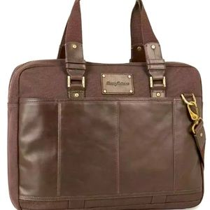 NWT Tommy Bahama Tobacco Collection Briefcase Bag